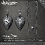 MG - Necklace - Razor Heart